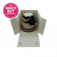 Extra deep 12 inch cake boxes with a window
