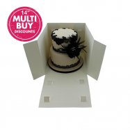 Extra deep 14 inch cake boxes with a window