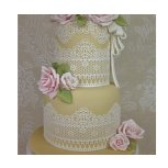 Chantilly cake lace mat by Claire Bowman ideal for cake decoration